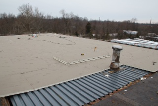 Mechanically Attached 20 Yr GAF 60 Mil White TPO, Laminar Flow Roof